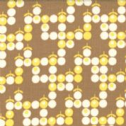 Moda Boho by Urban Chicks - 2584 -  Brown Floral Boho Blender 100% Cotton Fabric 31093-16